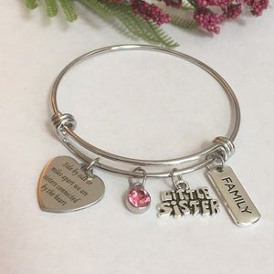 Jewelry - New stainless steel sister charm bracelet